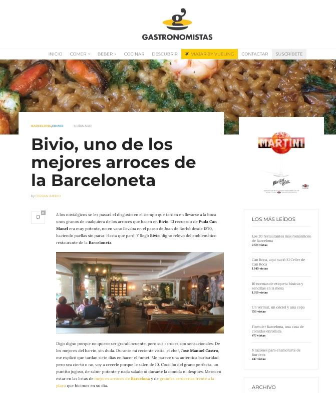 Gastronomistas sitio web